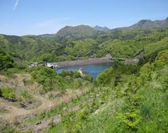 植林場所から見た荒川ダムです
